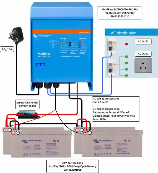 Инвертор Victron MultiPlus 24/3000/70-50   купить инвертор ...